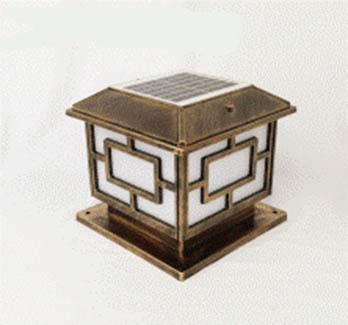 Beli lampu pilar tenaga surya murah GC-PL-01