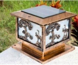 Jual lampu pilar murah dan berkualitas tenaga matahari GC-PL-18
