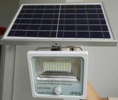 Lampu sorot taman Tenaga Matahari GC-FLSEN01-30W
