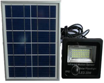 lampu sorot outdoor untuk taman dengan solar cell GC-FLSEN02-30W